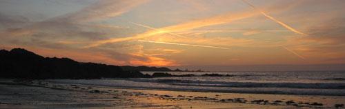 Coucher de soleil en bord de mer