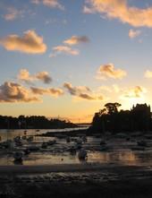 Coucher de Soleil sur les Bateaux à Saint-Briac-sur-Mer