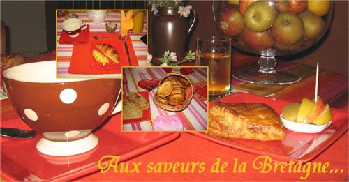 Petit-déjeuner copieux aux chambres d'hôtes du Vieux Logis à Saint-Briac sur Mer