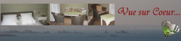 La Chambre d'hôtes Vue sur Coeur sera votre lieu de séjour idéal en Bretagne, non loin de Saint-Malo et Dinard